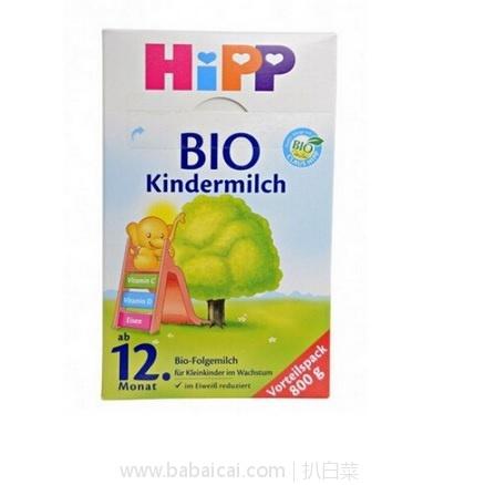 亚马逊海外购:HiPP 喜宝 有机奶粉1+段 800g *4盒 降至¥391.38,直邮免运费,含税到手约¥109/桶