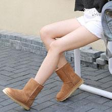 网易严选:澳洲A级羊毛 中筒皮毛一体雪地靴 4色 限时特价新低¥229包邮,领红包还可减¥10!