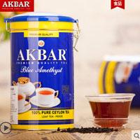 天猫商城:斯里兰卡进口,AKBAR 蓝罐锡兰红茶 450g 赠100g红茶 现¥49,拍3罐 领券减¥100,实付¥47包邮