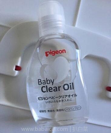 日本亚马逊:pigeon贝亲 婴儿 clear oil 抚触按摩油 80ml×2个 补货831日元(¥49)