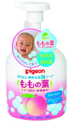 日本亚马逊:Pigeon 贝亲桃子水 婴儿二合一洗发沐浴露450ml 特价778日元(¥48)