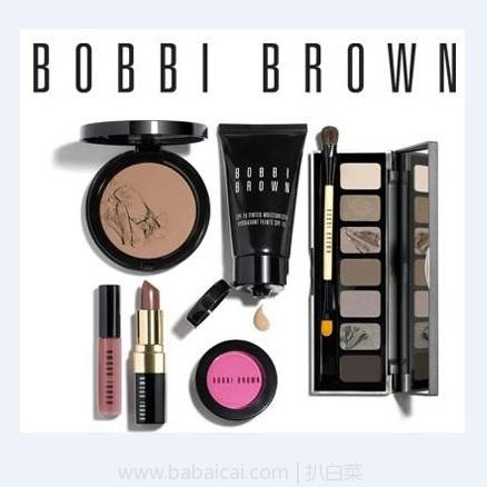 Bobbi Brown 芭比布朗官网:全场满$300减$100+送正装唇膏+自选小样,还有部分产品75折促销