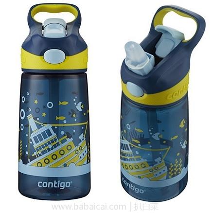 亚马逊海外购:Contigo 康迪克 儿童运动水壶 吸管杯 400ml 特价¥69.96,凑单直邮免运费,含税到手¥78