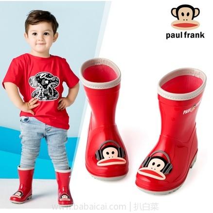 天猫商城:Paul Frank 大嘴猴 儿童时尚雨鞋 多色 现¥69.9,领取¥40券,实付¥29.9包邮