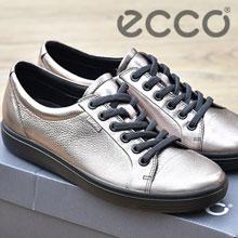 亚马逊海外购:ECCO 爱步 Soft 7 柔酷7号 女士金属色牛皮休闲鞋  降至¥370.51,免费直邮,含税到手¥412.01