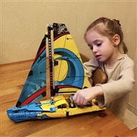 网易考拉海购:仅今天!LEGO 乐高 科技机械组 42074 竞赛帆船 特价¥199包邮