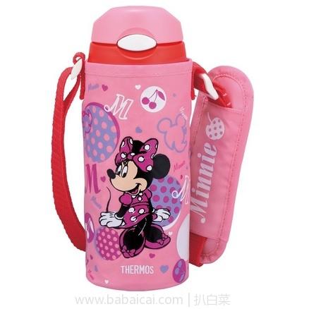 亚马逊海外购:Thermos 膳魔师 FHL-400儿童保温吸管杯 400ml 粉色米妮款 降至¥125.28,凑单直邮免运费,含税到仅¥140