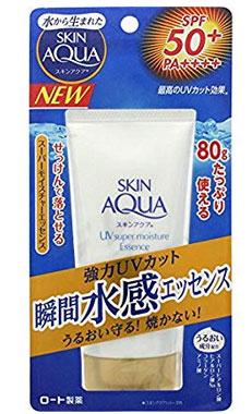 日本亚马逊:乐敦 SKIN AQUA水感防晒霜 SPF50+80g  特价587日元(¥35)