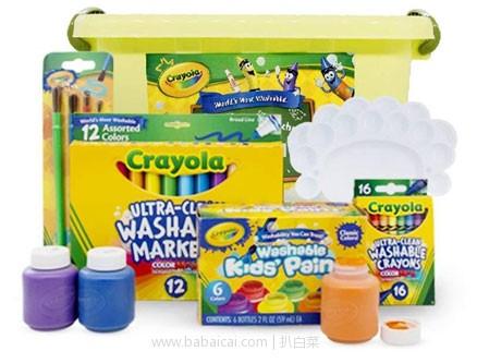 亚马逊中国:Crayola 绘儿乐 创造力 可水洗 艺术活动绘画6件套装 限时特价¥99包邮