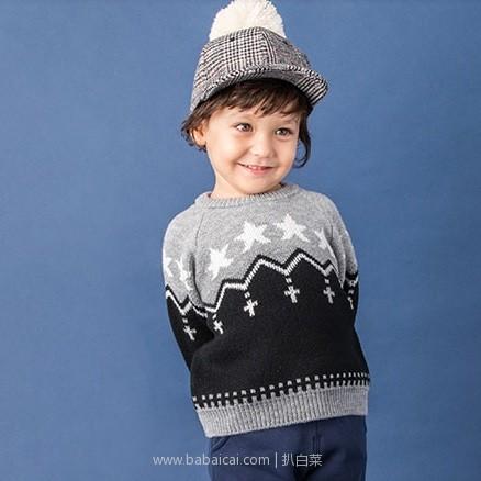 天猫商城:2018冬季新款 petit main 儿童拼色毛衣 2色可选 特价¥89.9,领券减¥20,实付¥69.9包邮
