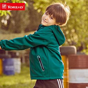 天猫商城:TOREAD Kids 探路者 儿童连帽软壳外套 冲锋衣 多色 现¥319,领取¥300券,实付史低¥119包邮