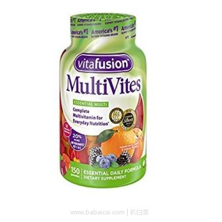 亚马逊海外购:Vitafusion Multi-vite天然颜色水果口味 小熊综合维生素软糖(成人版)150粒 降至¥66.41,凑单直邮免运费,含税到手仅¥73