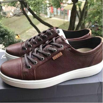 Amazon:Ecco 爱步 经典 SOFT 7 430144 男士真皮休闲鞋 原价$160,现历史新低$69.97,到手¥590