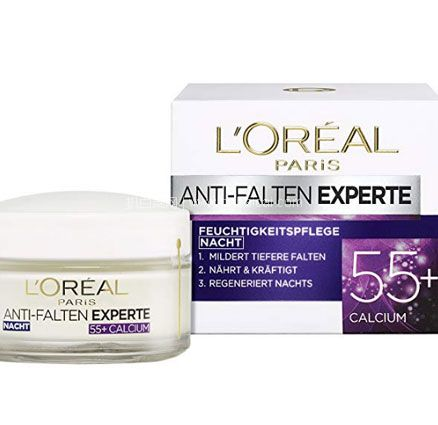 亚马逊海外购上:L'Oréal Paris 巴黎欧莱雅 抗皱专家 55+ 抗皱保湿晚霜 50ml*3瓶 套装 降至¥118.4,凑单免费直邮,含税到手¥146.38,折合¥48.6/瓶