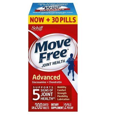 亚马逊海外购:Schiff Move Free 维骨力氨基葡萄糖氨糖软骨素 关节灵 红瓶 200粒 降至¥127.55,凑单直邮免运,含税到手约¥145  好价
