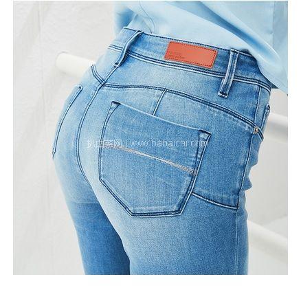 天猫商城:新补码,两色码全!网易严选 女式蜜桃臀修身天丝牛仔裤 现价¥199,领¥80优惠券,券后¥119包邮