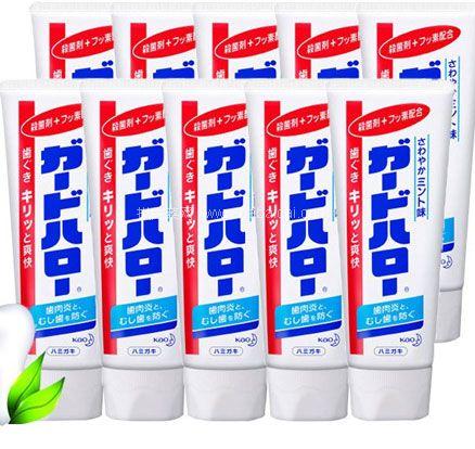 考拉海购:Kao 花王旗下Clear Clean 洁齿健 防蛀护齿除牙垢洁白牙膏 165克/支 10支装 特价¥89包邮