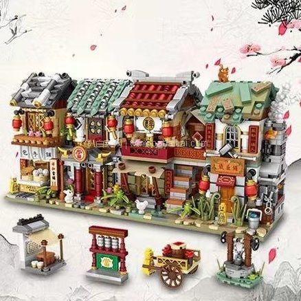苏宁易购:超美!LOZ 俐智 创意拼插积木 中华街景 5款可选 券后仅¥39包邮