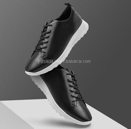 亚马逊海外购:ECCO 爱步 Flexure Runner 随溢系列 女士系带真皮运动鞋 限US4-4.5码,降至¥382.63,免费直邮含税到手¥417.45