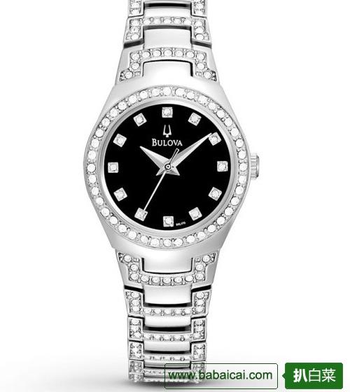 Bulova 96L170 宝路华 施华洛世奇水晶 女表$164.58,