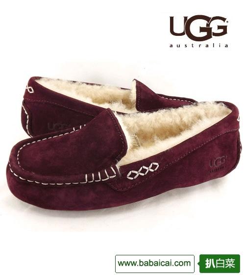 ebay:经典款!UGG女士平底羊毛保暖豆豆鞋单鞋3312特价$74.50