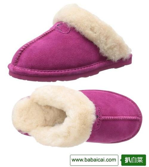 BEARPAW 熊掌女士羊毛拖鞋原价$50 特价$28.96 凑单8折$23.17 历史新低