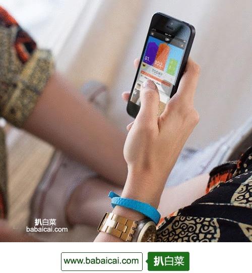 了解你的身体!卓棒/Jawbone UP24智能手环$109.98 柿子红色