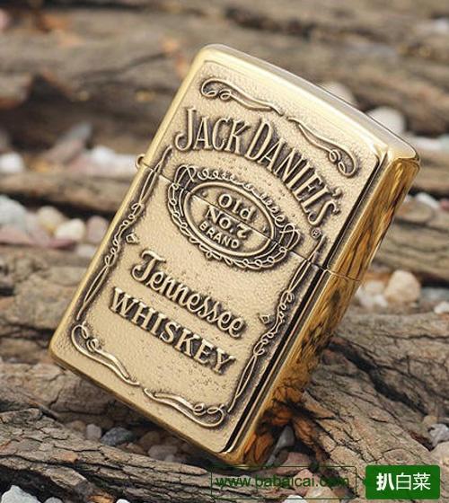 美国产 芝宝 Zippo Jack Daniel 黄铜打火机$23.85